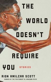 Illustrated cover image of the short story collection titled The World Doesn't Require You